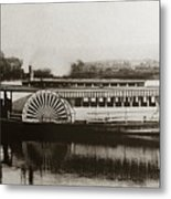 Riverboat  Mayflower Of Plymouth   Susquehanna River Near Wilkes Barre Pennsylvania Late 1800s Metal Print