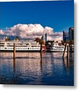 Riverboats Of Sacramento Metal Print