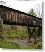 Riverdale Road Covered Bridge Metal Print