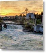Riverfront Park Sunrise Metal Print