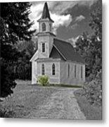 Riverside Presbyterian Church 1800s Bw Metal Print