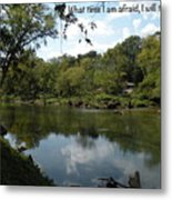 Riverside Reflection Metal Print