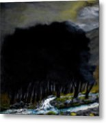 Riverside Tree Grove Metal Print