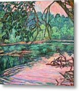 Riverview At Dusk Metal Print