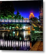 Riverwalk Bridge Metal Print
