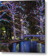 Riverwalk Christmas Metal Print