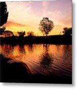 Riverwalk Sunrise  Metal Print