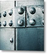 Riveted Pieces Of Iron Metal Print