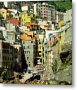 Riviera Hill Town Italy Metal Print
