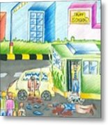 Road Accident Metal Print by Tanmay Singh