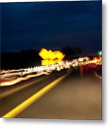 Road At Night 1 Metal Print