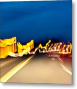 Road At Night 2 Metal Print