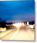 Road At Night 5 Metal Print