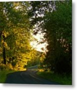 Road At Sunset Metal Print by Joyce Kimble Smith