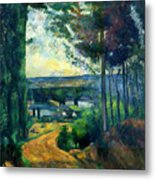 Road Leading To The Lake, By Paul Cezanne, Circa 1880, Kroller-m Metal Print