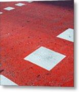 Road Markings Metal Print