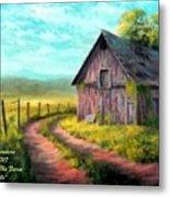 Road On The Farm Haroldsville L A Metal Print
