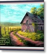 Road On The Farm Haroldsville L A With Decorative Ornate Printed Frame.  Metal Print