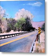 Road Over The Wash Metal Print