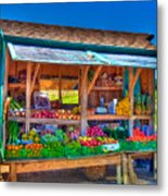 Road Side Fruit Stand Metal Print by William Wetmore