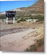 Road Sign To The Sky Metal Print