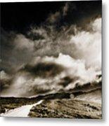Road Storm Metal Print