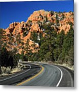 Road Through Red Canyon State Park Metal Print