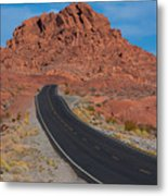 Road Through Valley Of Fire, Nv Metal Print