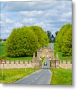 Road To Burghley House-vertical Metal Print