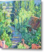 Road To Giverny Metal Print