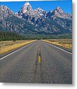 Road To Grand Teton National Park Metal Print
