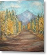 Road To Mountain Metal Print