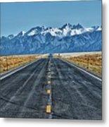 Road To Mountains Metal Print