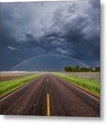 Road To Nowhere - Rainbow Metal Print