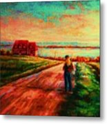Road To Red Gables Metal Print