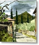 Road To Reggello Metal Print