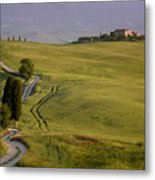 Road To Terrapille In Tuscany Metal Print
