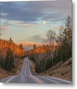 Road To The Moon Metal Print