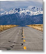 Road To The Mountains Panorama Metal Print