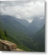 Road-to-the-sun Road Glacier Park Montana Metal Print