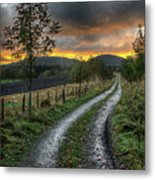 Road To The Sunset Metal Print