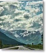 Road Travel Alaska Color  Metal Print