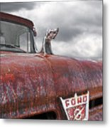 Roadkill Rat Rod Metal Print