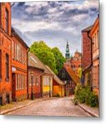 Roads Of Lund Digital Painting Metal Print
