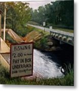 Roadside Fishing Spot Metal Print by Doug Strickland