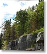 Roadside Rocks Metal Print