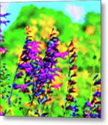 Roadside Wildflowers Metal Print