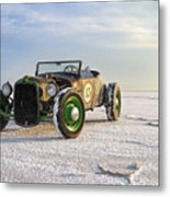 Roadster On The Salt Flats 2012 Metal Print by Holly Martin
