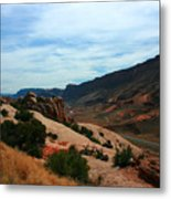 Roadway Rock Formations Arches National Park Metal Print