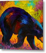 Roaming - Black Bear Metal Print